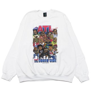 RAP ATTACK ラップアタック ATL CREWNECK SWEAT RASP21-CS002/WHITE