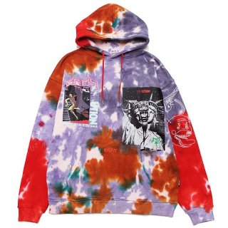 GRIMEY グライミー LIVEUTION MAGIC 4 RESISTANCE TIE DYE HOODIE GCH494/TIE DYE