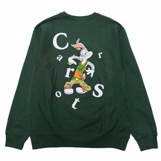 CARROTS BY ANWAR CARROTS キャロッツ 24KT WORDMARK CREW/FOREST