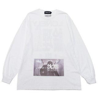 LONELY 論理 ロンリー TK L/S TEE LONSS21-LT092/WHITE