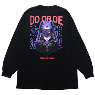 LONELY 論理 ロンリー DO OR DIE L/S TEE LONSS21-LT094/BLACK