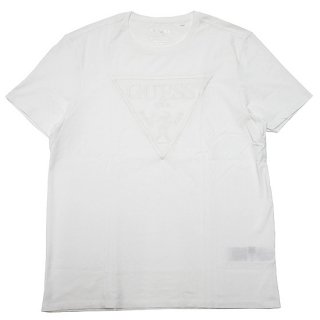 GUESS ゲス PROTRAIT EMBROIDERED LOGO S/S TEE M0BI1JR9YK0/PURE WHITE