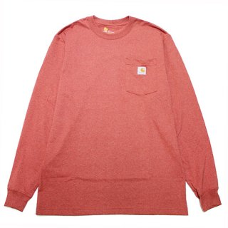 CARHARTT カーハート WORKWEAR POCKET L/S TEE K126/CAYENNE HEATHER