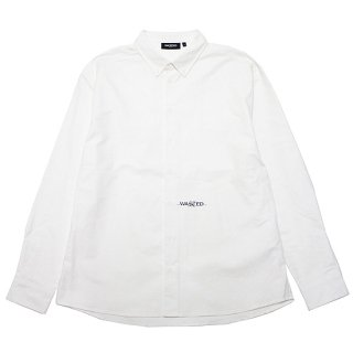 WASTED PARIS ウェステッドパリス SIGNATURE L/S SHIRT/WHITE