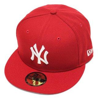 NEWERA ニューエラ NEWYORK YANKEES 59FIFTY FITEED CAP/SCARLETxWHITE