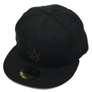 NEWERA ニューエラ LOSANGELES DODGERS 59FIFTY FITEED CAP/BLACKxBLACK