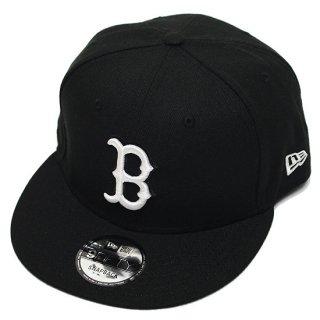 NEWERA ニューエラ BOSTON REDSOX 9FIFTY SNAPBACK CAP/BLACKxWHITE