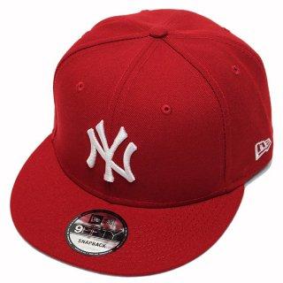 NEWERA ニューエラ NEWYORK YANKEES 9FIFTY SNAPBACK CAP/SCARLETxWHITE