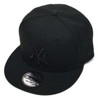 NEWERA ニューエラ NEWYORK YANKEES 9FIFTY SNAPBACK CAP/BLACKxBLACK