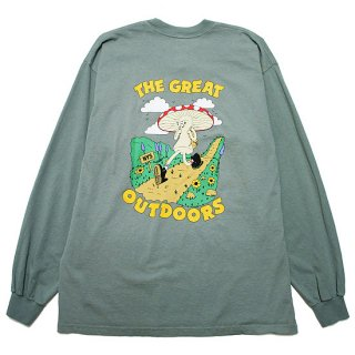 ONLY NY オンリーニューヨーク GREAT OUTDOORS L/S TEE/EUCALYPTUS