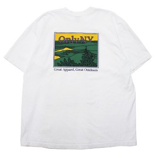 ONLY NY オンリーニューヨーク LODGE LANDSCAPE POCKET S/S TEE/WHITE