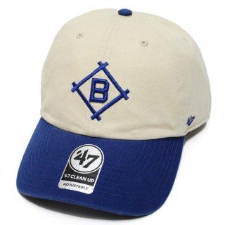 '47 フォーティーセブン DODGERS COOPERSTOWN '47 CLEAN UP CAP/NATURALxROYAL