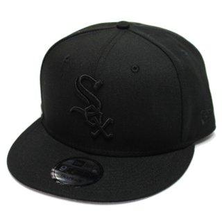 NEWERA ニューエラ CHICAGO WHITESOX 9FIFTY SNAPBACK CAP/BLACKxBLACK