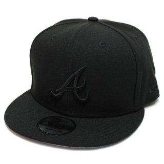 NEWERA ニューエラ ATLANTA BRAVES 9FIFTY SNAPBACK CAP/BLACKxBLACK