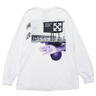 LONELY 論理 ロンリー ANTI V.A L/S TEE/WHITE