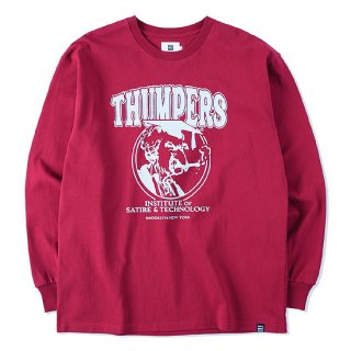 THUMPERS サンパーズ INSTITUTE L/S TEE/WINE