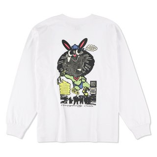 THUMPERS x BOOKWORKS サンパーズ ブックワークス EVERYONE EATS L/S TEE/WHITE