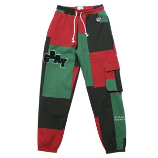 GRIMEY グライミー SINGGANG JUNCTION ALL OVER PRINT SWEATPANTS GRTS211/RED