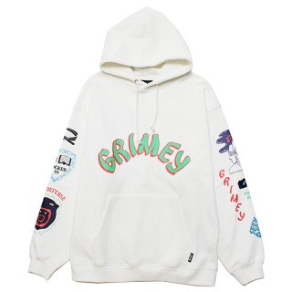 GRIMEY グライミー DESTROY ALL FEAR HOODIE GCH504/WHITE