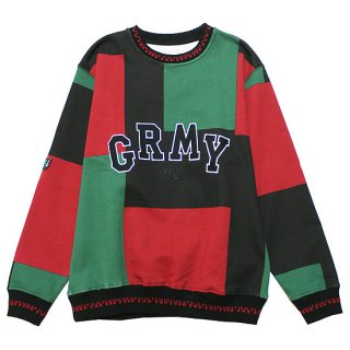 GRIMEY グライミー SINGGANG JUNCTION ALL OVER PRINT CREWNECK GSW511/RED