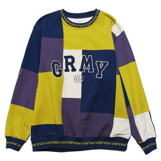 GRIMEY グライミー SINGGANG JUNCTION ALL OVER PRINT CREWNECK GSW511/NAVY