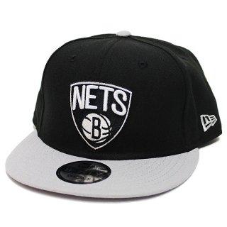 NEWERA ニューエラ BROOKLYN NETS 9FIFTY SNAPBACK CAP/BLACKxGREY