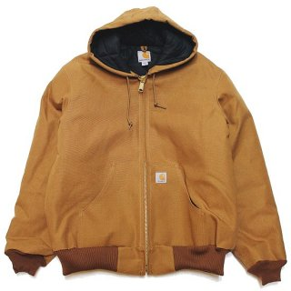 CARHARTT カーハート QUILTED FLANNEL-LINED DUCK ACTIVE JACKET J140/CARHARTT BROWN