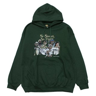 RAP ATTACK ラップアタック SO SWEET, SO TIGHT HOODIE RAAW21-PU001/FOREST GREEN