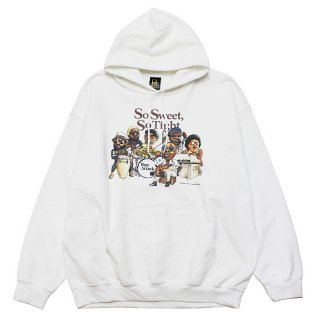 RAP ATTACK ラップアタック SO SWEET, SO TIGHT HOODIE RAAW21-PU001/WHITE