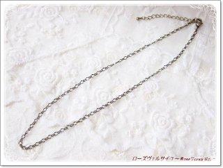 金古美・シルバー・ゴールド フィガロチェーン 45センチ