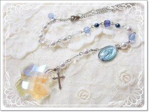 再販♪マリア様の不思議のメダイと十字架のマリア様の祈りサンキャッチャー その1