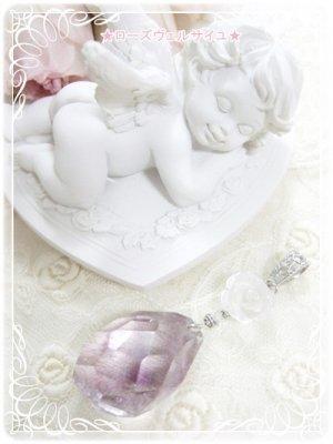 激レア♪「魂の浄化と癒し*愛に満ちて」宝石質スーパーセブン 水晶 薔薇 ペンダント