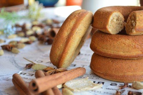 【送料無料】チャイ屋さんの美味しい焼きドーナツ6種&レンジdeチャイセット ※チャイは選べる3種類 ※油を使わないヘルシーな焼きドーナツ ※トースターで2分温めるとさらに美味しい