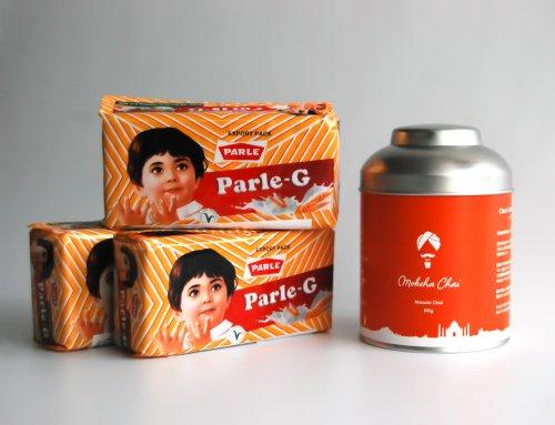 ロイヤルマサラチャイ80g缶&パレルジー(Parle-G)ビスケットセット