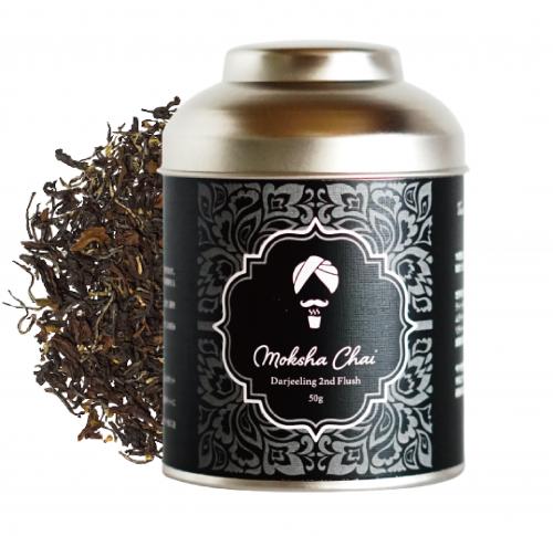 ダージリン セカンドフラッシュ 50g 缶 ※25杯分 ※夏摘み セカンドフラッシュ ※紅茶のシャンパン ※フルーティーな自然な香りが特徴