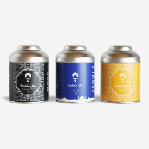 インド銘茶 3種缶セット  ※アールグレイ ※ダージリン ※アッサムCTC ※世界を代表するインド紅茶の名産を一つのセットにしました。※贅沢飲み比べセット