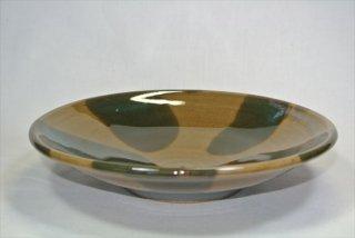 サラダ鉢(緑釉 掛け分け)