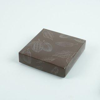 HPK-196 HP生チョコ箱 カカオ柄(50セット入) 【1セット132円】