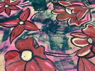 手描ペイント 赤い花