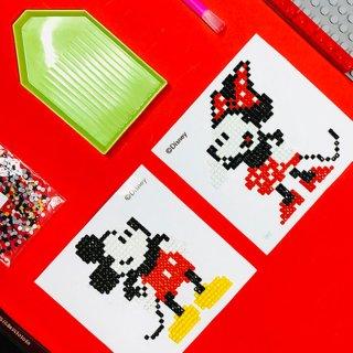 ミッキーマウスシリーズ ディズニー キュービック MICKEY MOUSE DIY CUBIC PAINTING (10X10)