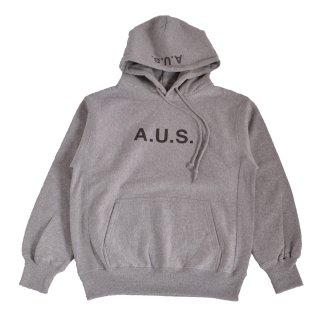 【A.U.S. M&W】スウェットプルパーカ レフロゴ1(ミックスグレー)