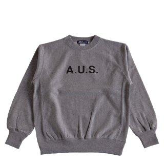 【A.U.S. M&W】スウェットシャツ レフロゴ1(ミックスグレー)