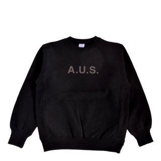 【A.U.S. M&W】スウェットシャツ レフロゴ1(ブラック)