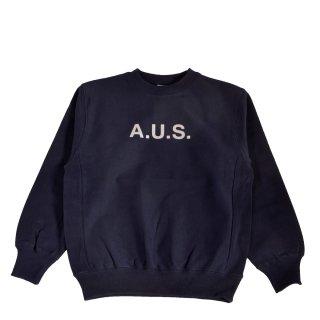 【A.U.S. M&W】スウェットシャツ レフロゴ1(ネイビー)