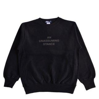 【A.U.S. M&W】スウェットシャツ レフロゴ2(ブラック)