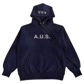 【A.U.S. M&W】スウェットプルパーカ レフロゴ1(ネイビー)