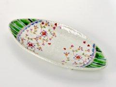 四ツ足皿 花のロンド