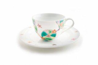 カップ&ソーサ 花の韻(緑)