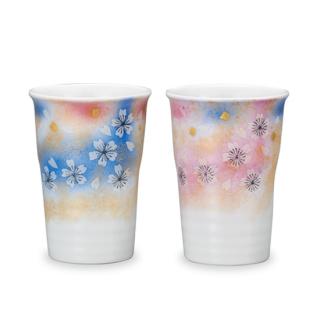 ペアフリーカップ 花の舞