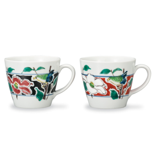 ペアマグカップ 色絵花鳥